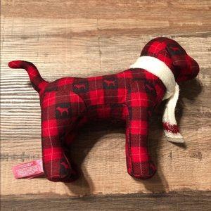 Victoria's Secret pink mini dog red plaid scarf